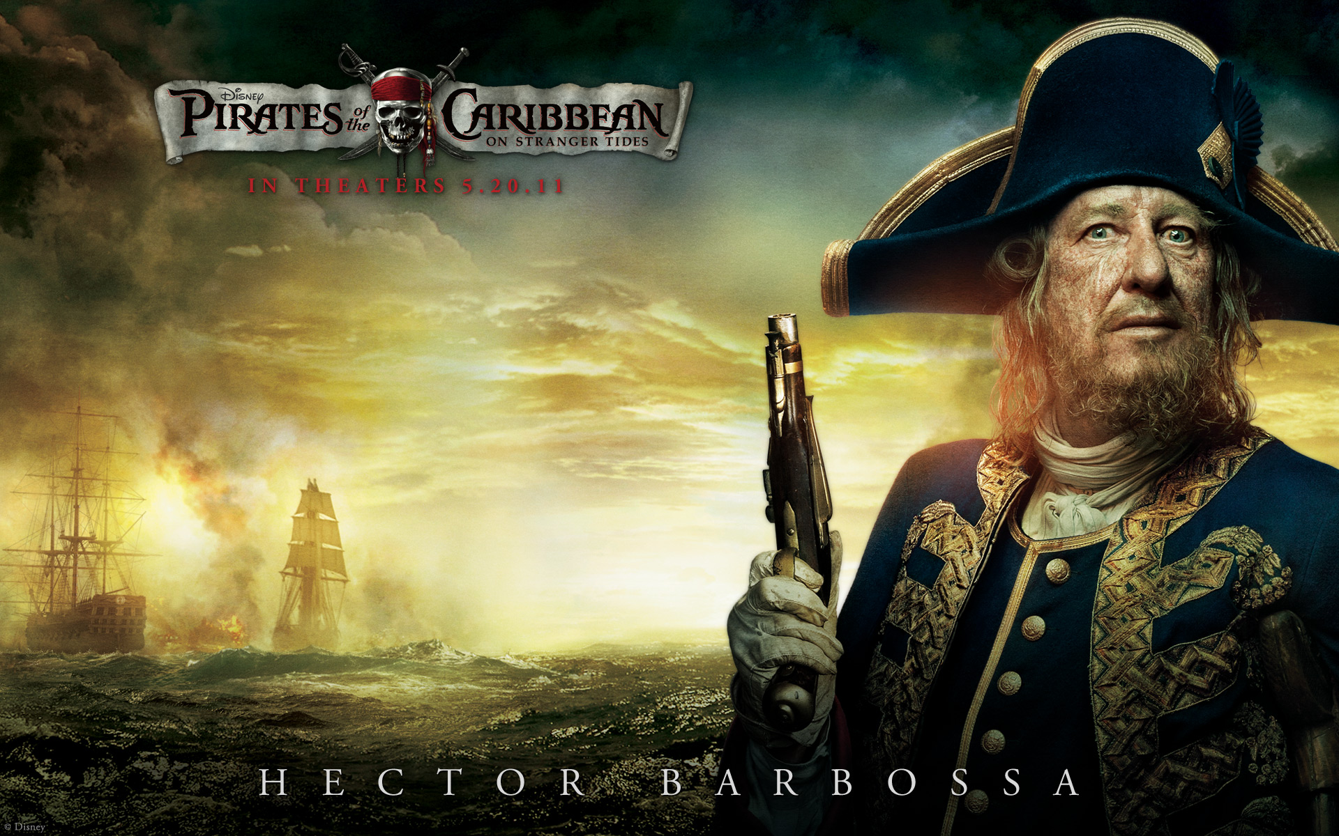 barbossa from pirates of the caribbean desktop wallpaper