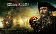 The pirate Blackbeard from Pirates of the Caribbean 4 On Stranger Tides HD Wallpaper