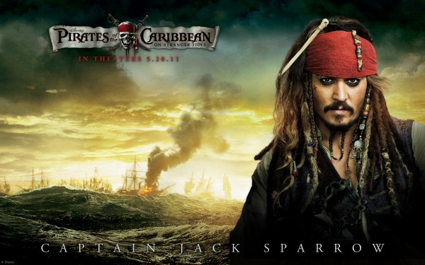 Captain Jack Sparrow (Johnny Depp) from Pirates of the Caribbean 4 On Stranger Tides HD Wallpaper