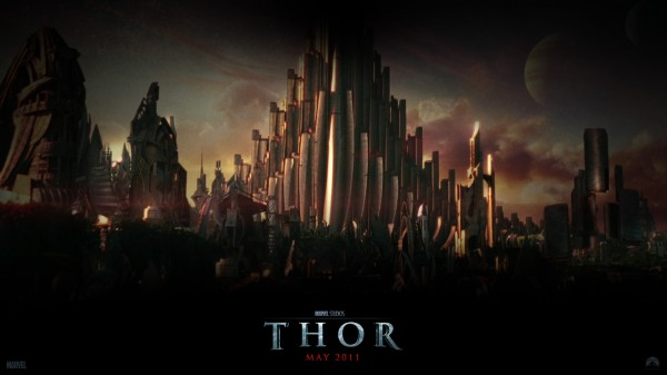 city of Asgard from the Marvel Studios movie Thor wallpaper
