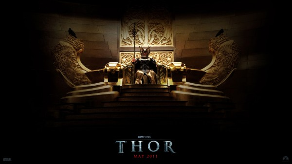 King Odin on the throne in Asgard from the Marvel Studios movie Thor wallpaper