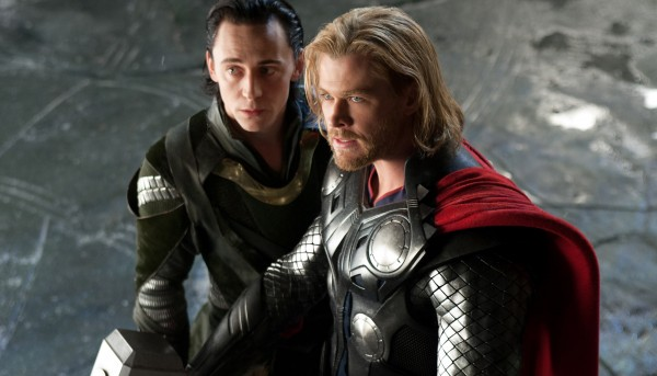 Loki and Thor from the Marvel Studios movie Thor wallpaper