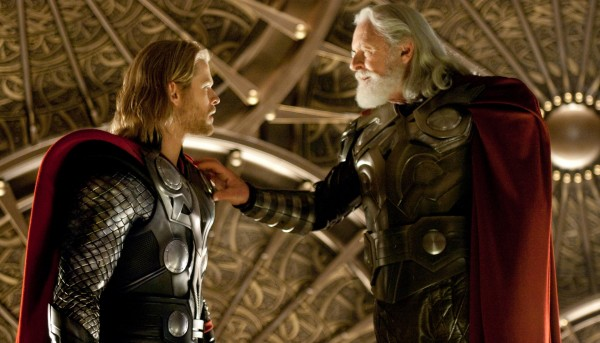 Odin and Thor from the Marvel Studios movie Thor wallpaper