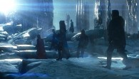 Thor and his warriors in the realm of the ice giants from the Marvel Studios movie Thor wallpaper