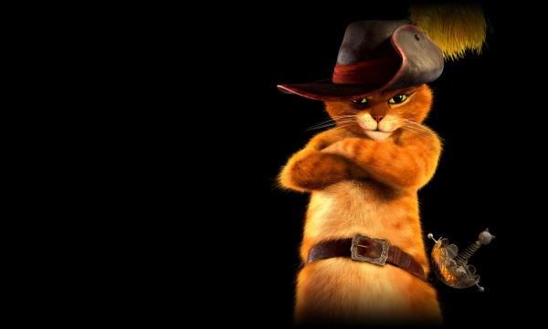 Puss in Boots from the Dreamworks CG animated movie HD desktop wallpaper