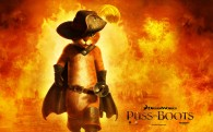 Puss in Boots from the Dreamworks animated movie cat wallpaper