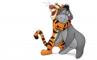 Tigger the tiger and Eeyore the donkey from Winnie the Pooh wallpaper