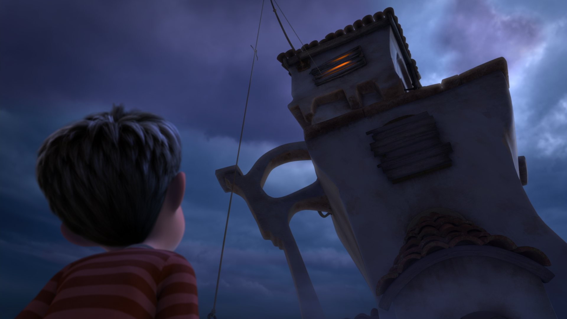 Ted and the Once-Ler's house from Dr. Seuss The Lorax Movie 2012 wallpaper