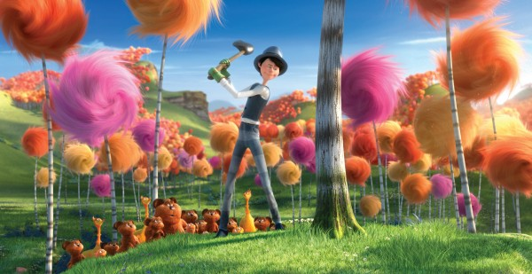 Once-ler cutting down a tree from Dr. Seuss The Lorax Movie 2012 wallpaper