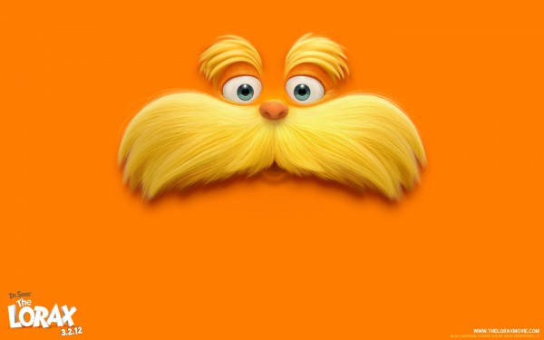 The Lorax from Dr. Seuss's The Lorax Movie 2012 wallpaper