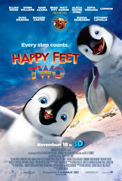 Happy Feet Two penguin movie poster wallpaper