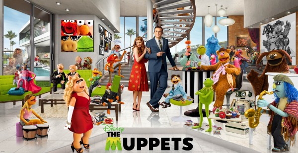 Cast of the 2011 Muppets movie wallpaper