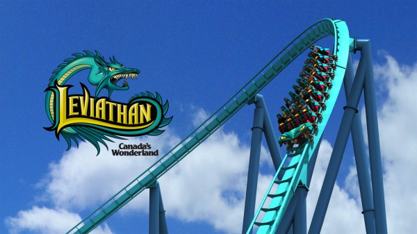 The barrel roll element on the Leviathan roller coaster at Canada's Wonderland wallpaper