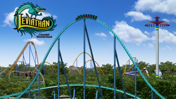The Leviathan roller coaster with Behemoth in the background at Canada's Wonderland wallpaper
