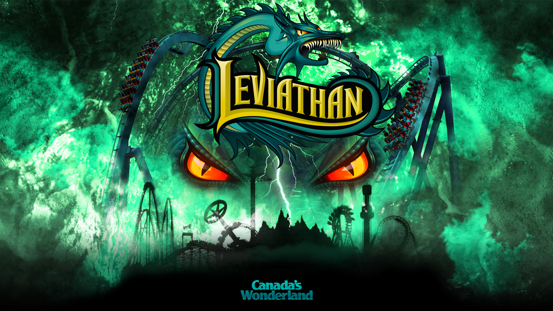 Leviathan Logo at Canada's Wonderland Desktop Wallpaper