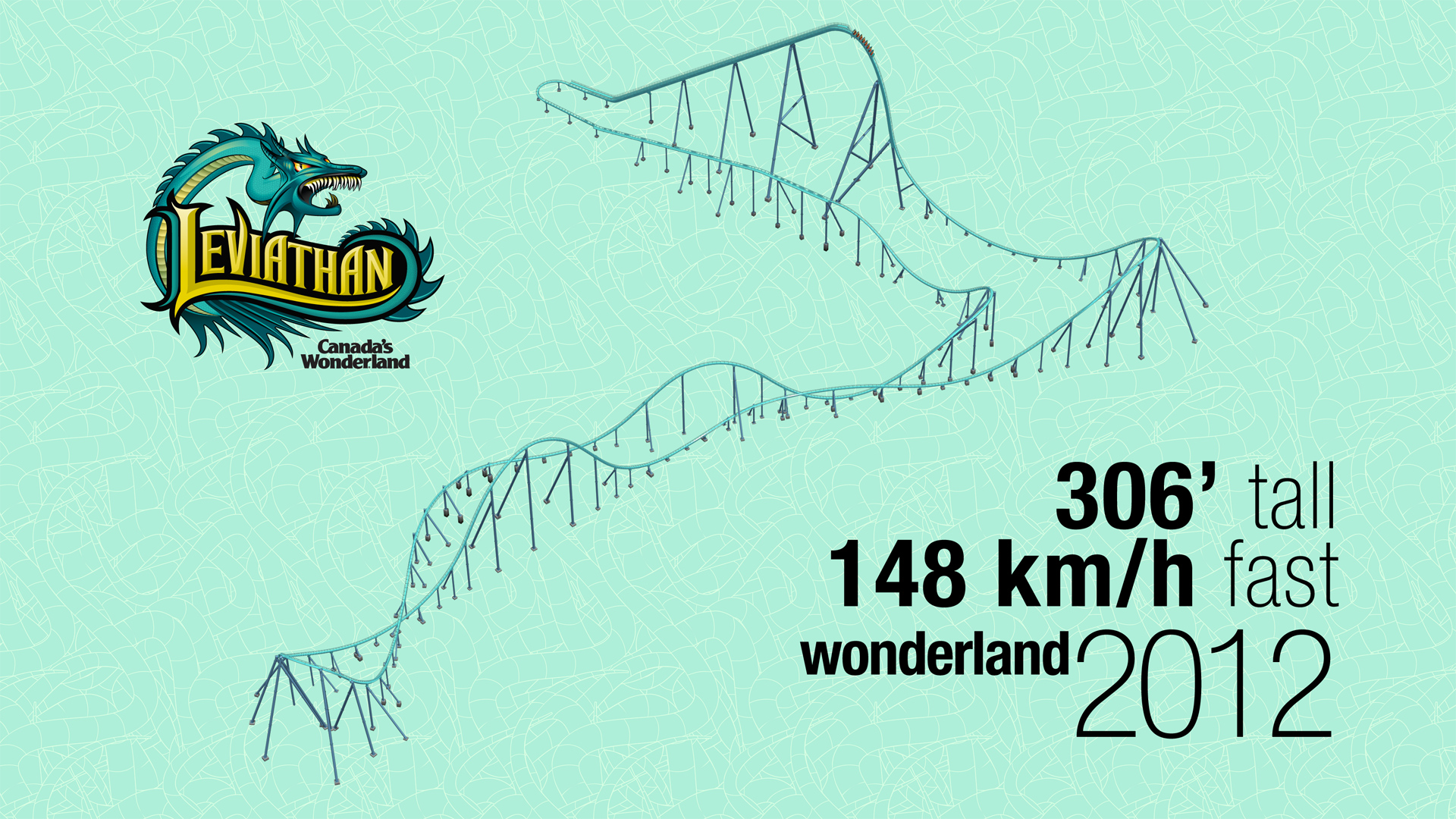 Track Layout For Leviathan At Canada S Wonderland Desktop