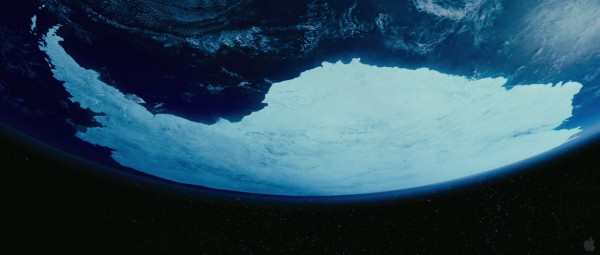 view of Antarctica from space as seen in Happy Feet Two movie wallpaper