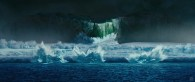 arctic glacier calving and ice flow as seen in Happy Feet Two movie wallpaper