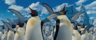 singing and dancing penguins as seen in Happy Feet Two movie wallpaper