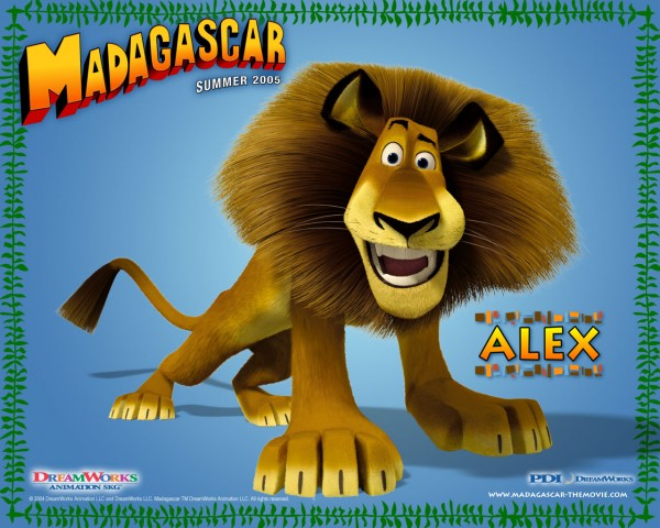 Alex the lion from the Madagascar CG animated movies wallpaper