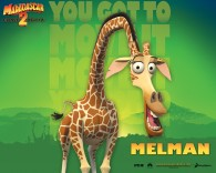 Melman the giraffe from Dreamworks Madagascar animated movies wallpaper