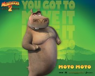 Moto Moto the hippo from Dreamworks Madagascar animated movies wallpaper