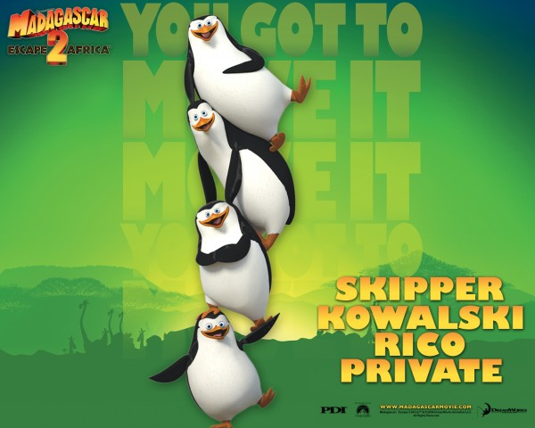 the penguins from Dreamworks Madagascar animated movies wallpaper