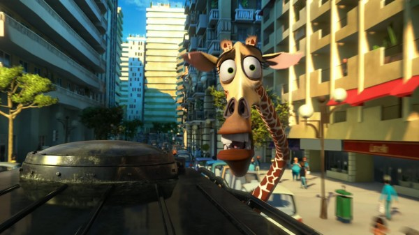 Melman the giraffe in Madagascar 3: Europe's Most Wanted wallpaper