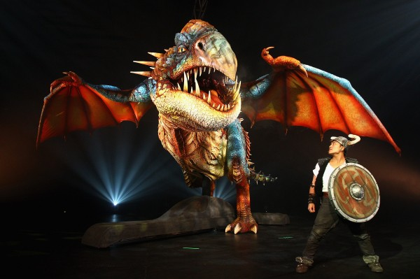 the Deadly Nadder dragon from the How to Train Your Dragon Arena Spectacular live show wallpaper