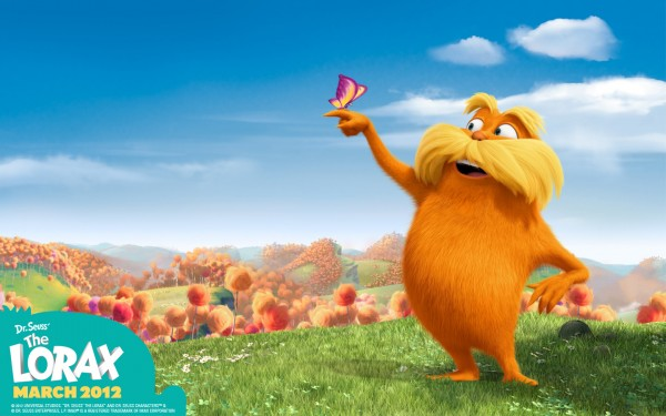 The Lorax from Dr Seuss' Lorax Movie wallpaper