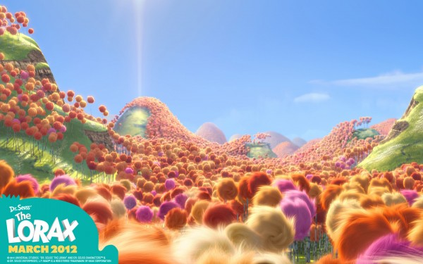 forest of Truffula trees from Dr Seuss' Lorax Movie wallpaper