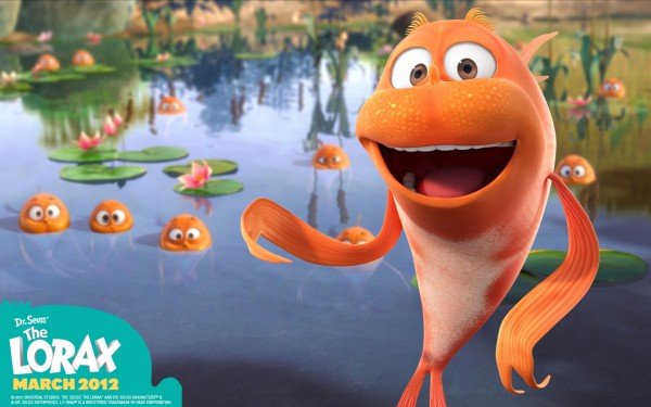 Finn a humming fish from Dr Seuss' Lorax Movie wallpaper