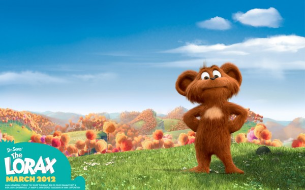 Pip the Bar-Ba-Loot (bear) from Dr Seuss' Lorax Movie wallpaper