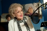 Betty White recording lines for Grammy Norma in Dr. Seuss' The Lorax Movie wallpaper
