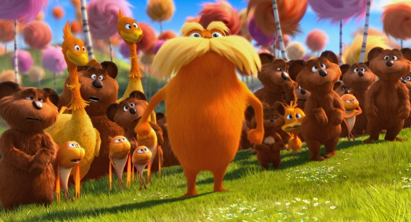 The Lorax and forest critters in Dr. Seuss' The Lorax Movie wallpaper