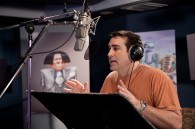 Rob Riggle recording lines for O'Hare in Dr. Seuss' The Lorax Movie wallpaper