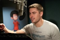 Zach Efron recording lines for Ted in Dr. Seuss' The Lorax Movie wallpaper