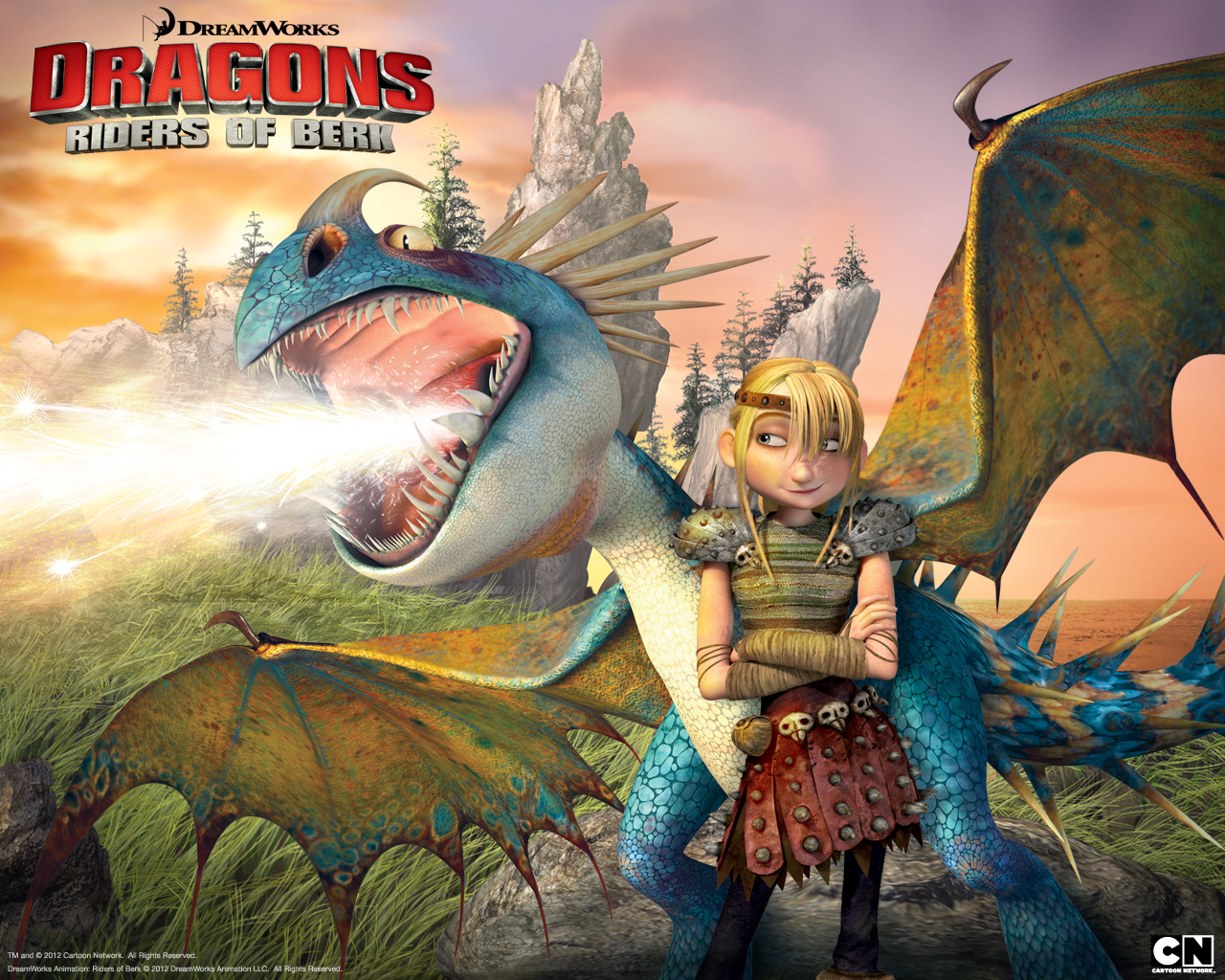 Astrid Riding Stormfly The Deadly Nadder Dragon From Dreamworks Dragons Riders Of Berk How To