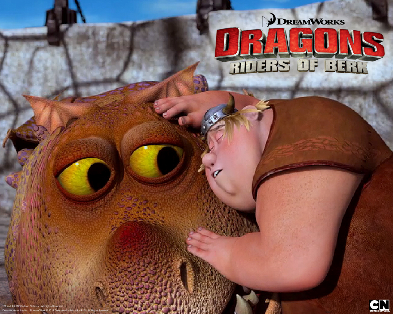 Fishlegs Riding Meatlug The Gronckle Dragon From Dreamworks Dragons: Riders  Of Berk How To Train