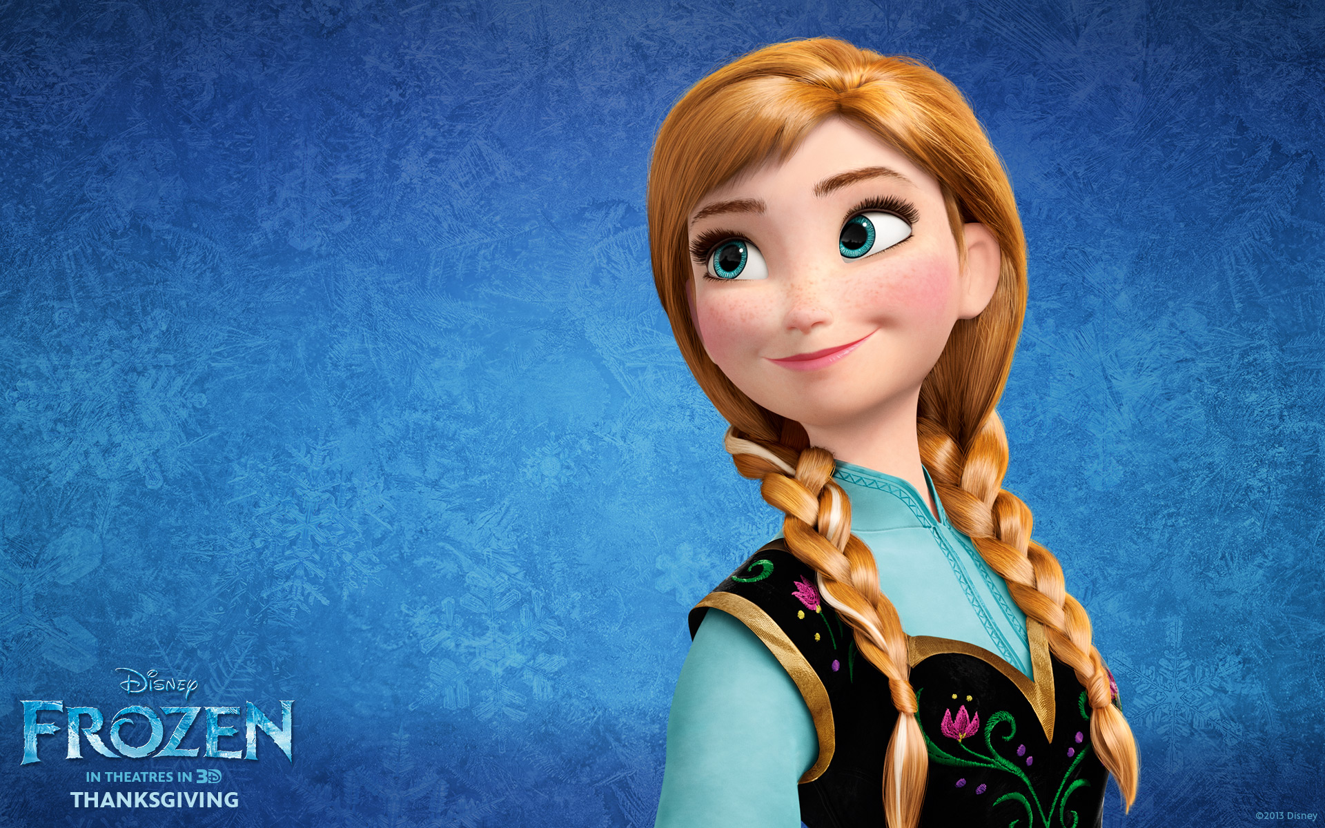 Princess Anna from Disney's Frozen Desktop Wallpaper