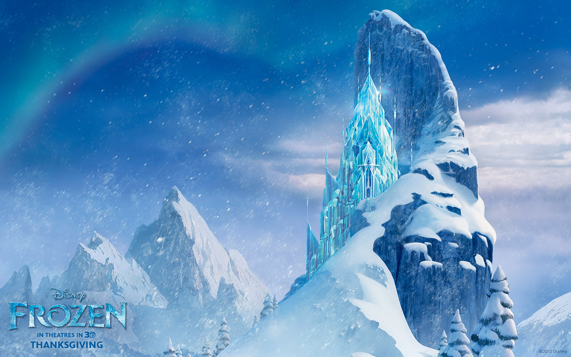 ice castle from disney's frozen desktop wallpaper