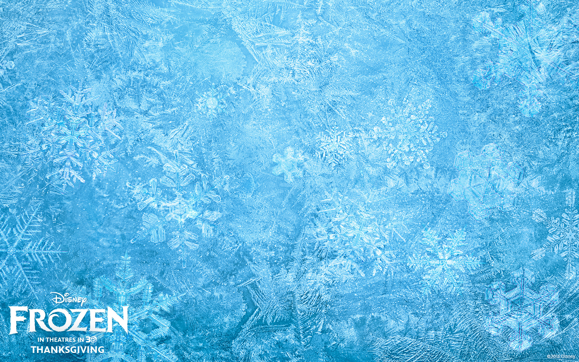 Ice Background From Disney's Frozen Desktop Wallpaper
