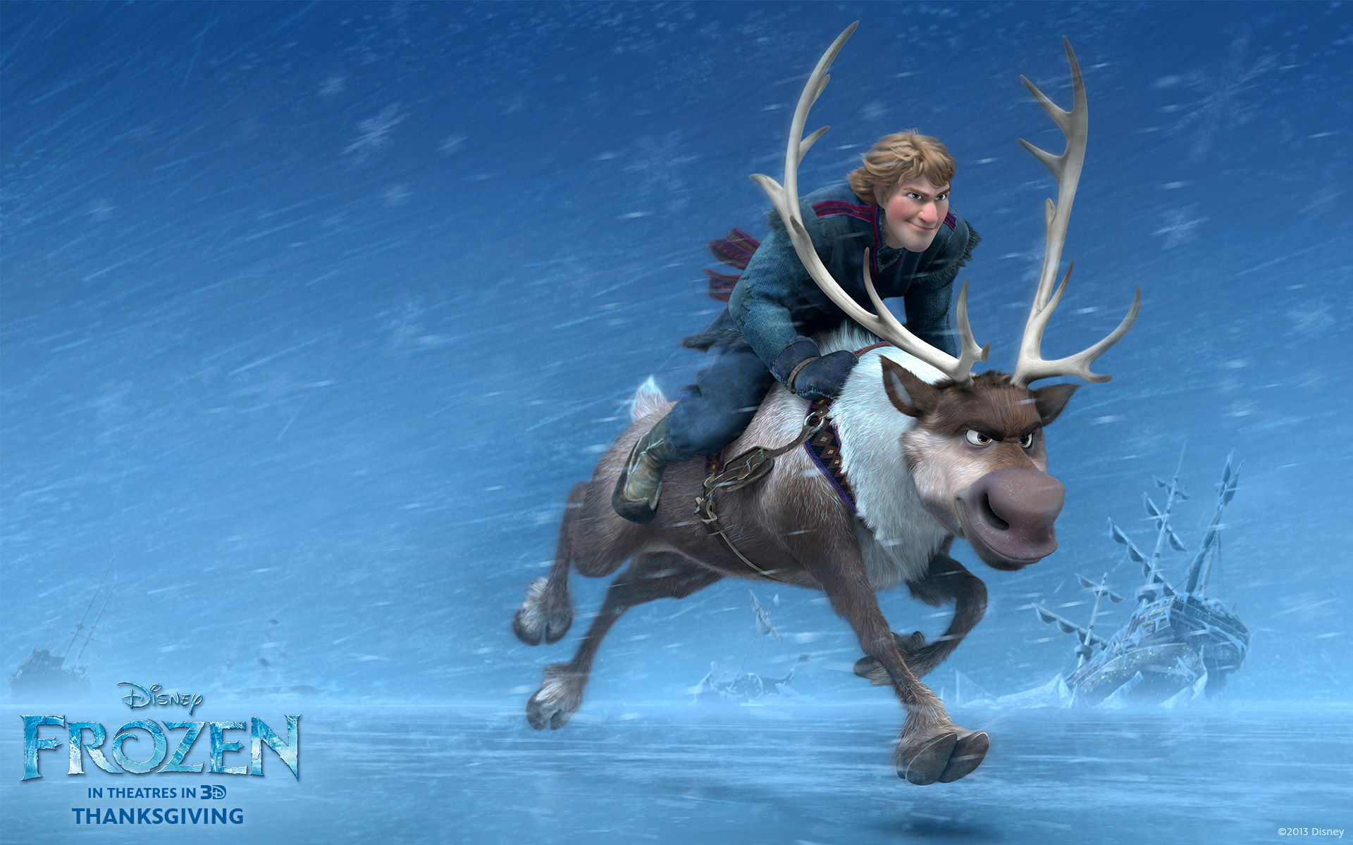 Kristoff and Sven from Disney's Frozen Desktop Wallpaper Disney Frozen Sven Wallpaper