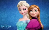 Elsa and Anna from Disney's movie Frozen wallpaper