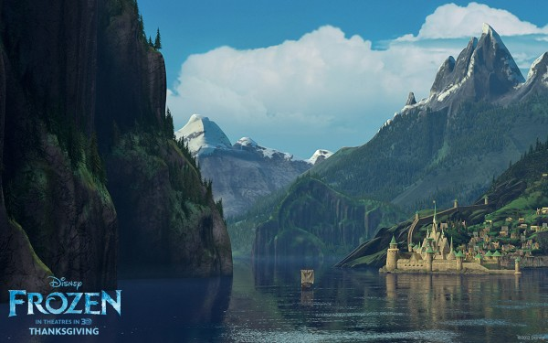 Arendelle in summer from Disney's movie Frozen wallpaper