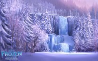 Frozen waterfall from Disney's movie Frozen wallpaper