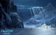 Arendelle locked in winter from Disney's movie Frozen wallpaper