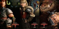 movie posters with Hiccup, Toothless, Astrid, Stormfly, Fishlegs and Meatlug from How to Train Your Dragon 2