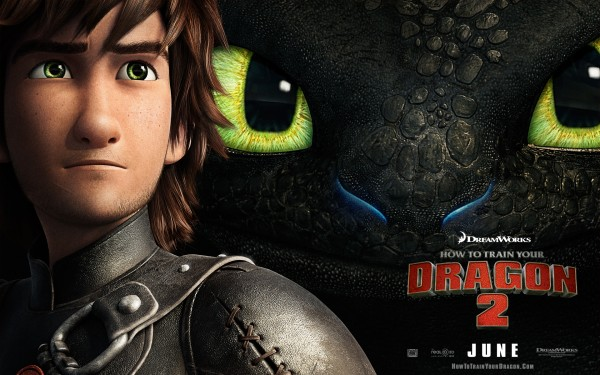 Hiccup and Toothless from How to Train Your Dragon 2 movie wallpaper