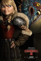 Astrid and Stormfly the Deadly Nadder from How to Train Your Dragon 2 movie wallpaper